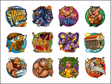 free Stash of the Titans slot game symbols
