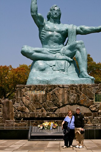 statue in peace park, nagasaki