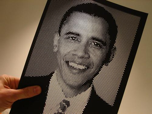 Laser cut Obama by Koen Mostert
