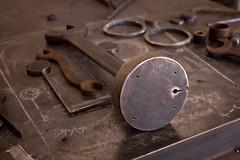 Holes tapped in the base (Jeff Van de Walker) Tags: sculpture art statue iron steel tools wrench welded jeffvandewalker