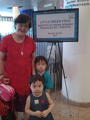 The kids at the Esplanade for The Little Green Frog
