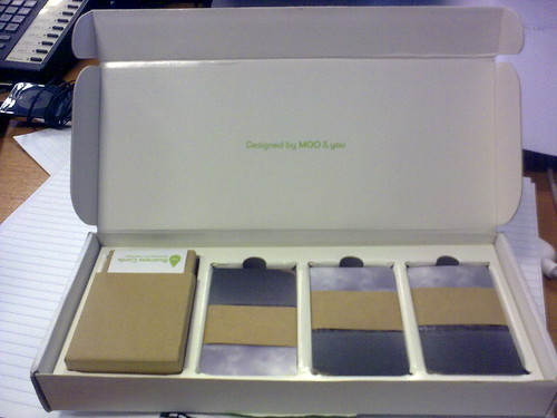 Moo card unboxing