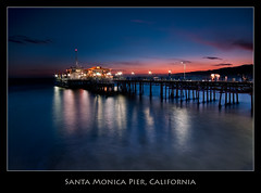 Santa Monica Pier (szeke) Tags: ocean california light sunset water landscape pier losangeles santamonica processing blueribbonwinner supershot flickrsbest bej imagenomic platinumphoto qualitypixels blendinphotoshop mygearandme