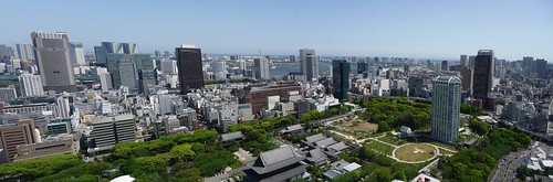 view from Tokyo Tower, Odaiba direction