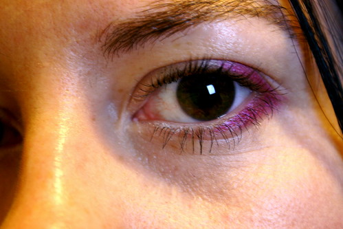 Pink Eyeshadow - 12 hours later