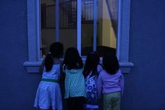 Curiosity (chibi_m) Tags: family girls window children curiosity