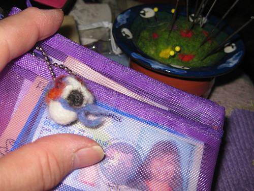 felted charm