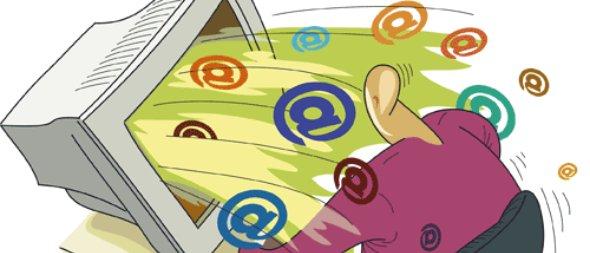 E-mail spam.