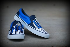 """He Lives"" Shoes Blue-Reserved"