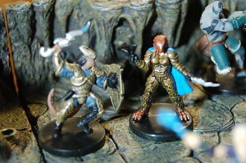 Arjhana: Dragonborn Rogue and Chance: Tiefling Warlord