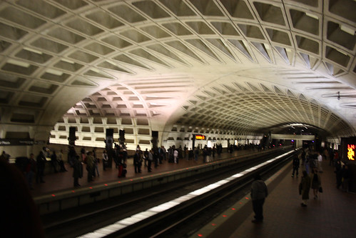 The metro station in Washington