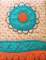 Morning Glory - Appliqued and Embroidered Art Quilt (BooDilly's) Tags: art embroidery contemporary textile fiber applique wallhanging artquilt larkbooks victoriagertenbach quiltsbaby