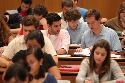 Alumnos en clases-Universidad de Navarra