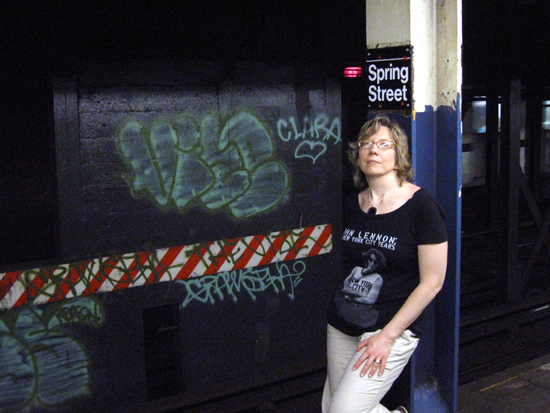 Alyce in Spring Street Subway (Click to enlarge)