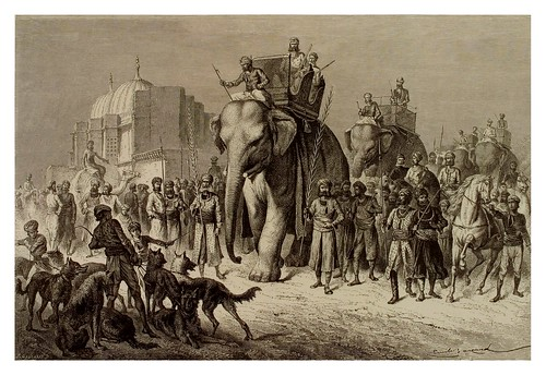 001-Partida de caza-La India en palabras e imágenes 1880-1881- © Universitätsbibliothek Heidelberg