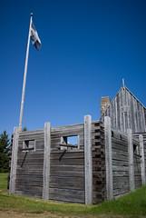 Cannon Platform, Port-Royal Habitation, Nova Scotia (cphoffman42) Tags: canada novascotia fort flag cannon acadie acadia frenchflag portroyal frenchcolony portroyalhabitation frenchcrossflag