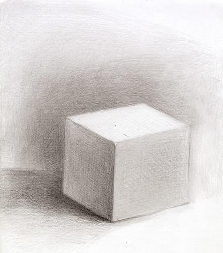6.5 – Cube: Value Study – Vitruvian Fine Art Studio