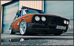Staying Trendy (Mike Burroughs) Tags: vw volkswagen rust rusty bmw trend 18 rs bbs slammed bimmer 5er e28 535i hoodrive