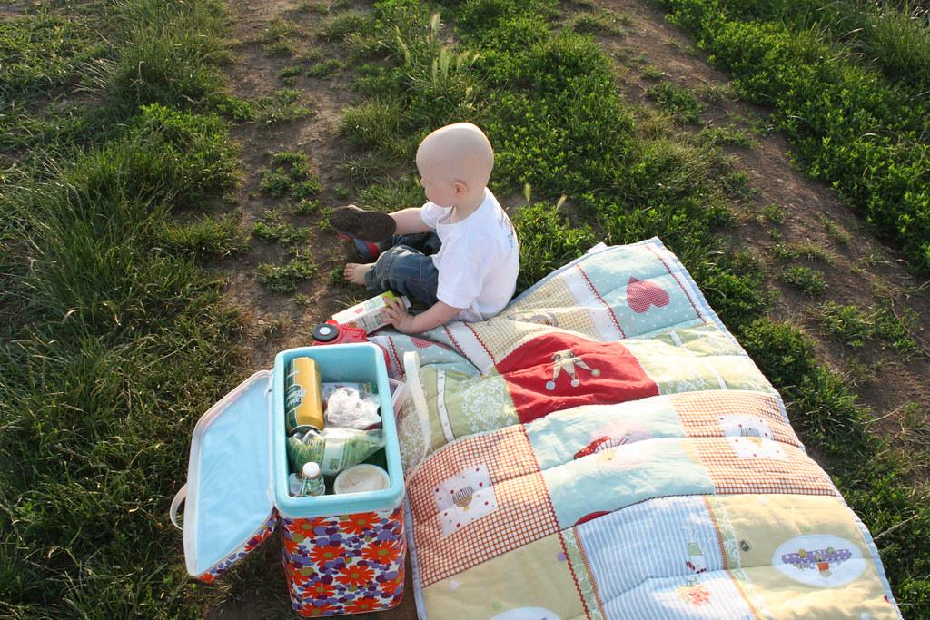 Picknick am Abend