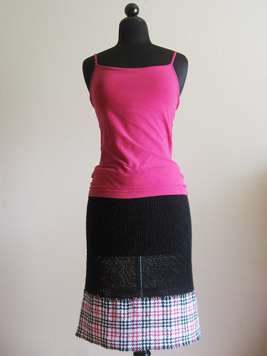 Plaid linen skirt