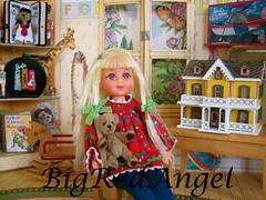 My Teddy Bear (Big Red Angel) Tags: vintage miniatures doll barbie diorama tutti