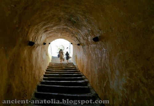 Stairs to the Bodrum Castle by voyageAnatolia.blogspot.com