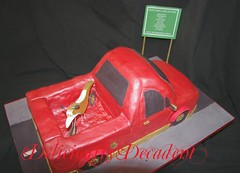 red luxi top (Deliciously Decadent (Taya)) Tags: road birthday street red car sign cake truck gold ute motorbike dirtbike