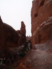 fiery furnace walk at Arches National Park