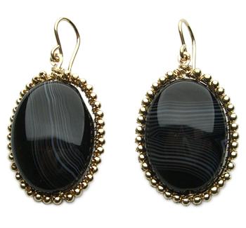 gold and black sedona earrings