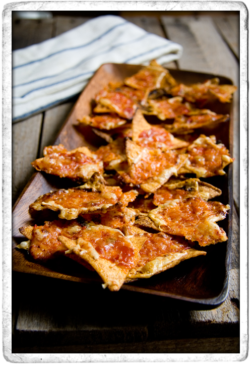 :: Tesse's Cheesy Salsa Baked Tortilla Chips