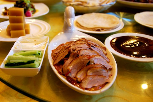 paper-thin beijing duck slices