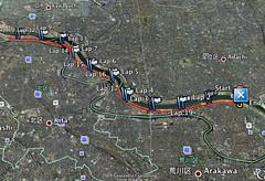 2009タートルマラソンGoogle earth