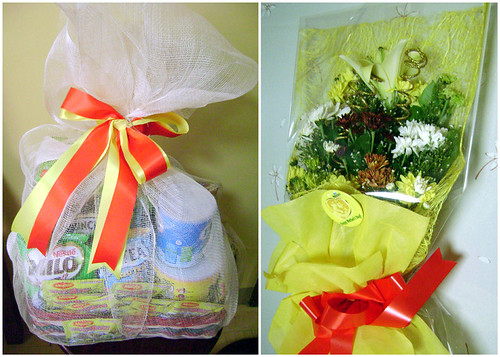nestle nido mothers day gift, flowers, nestle gift pack