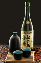 Sho Chiku Bai Sake (Photoshoparama - Dan) Tags: sake ricewine sb800 strobist shochikubai mywinners dsc8906 darkfieldlighting afmicronikkor60mmf28 johnsongraphics photoshoparama danielejohnson crossroadonecom