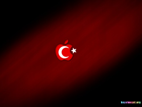 Trk bayra mac apple logo wallpaper hayal meyal voltagebd