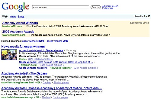 oscar winners - Google