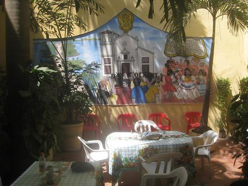 Hostal courtyard