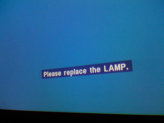 Do NOT ... do NOT replace the LAMP! :-)