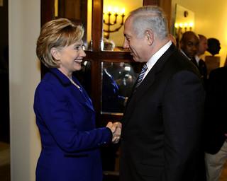 Hillary Clinton and Israeli Prime Minister Netanyahu
