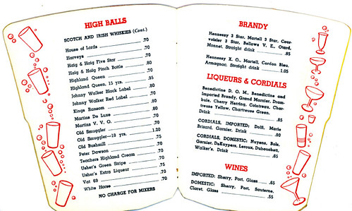 Sazerac  Bar menu,  Page 6