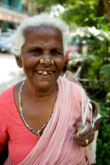 Home Delivery : The Heart of India (Kausthub) Tags: portrait people woman india dslr chennai 2009 greyhair elderlywoman vegetableseller platinumphoto canoneos5dmarkii canonefllens theheartofindia