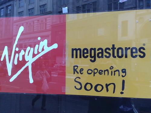 Virgin Megastores - reopening soon?