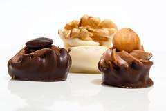 Chocolate - closeup (Amir B.) Tags: macro closeup sweet chocolate walnut dolce sweets 2009 cioccolato hazelnut dolci noce nocciolina cioccolatini