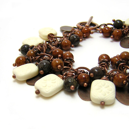 Carrot Cake Bracelet by riskybeads, on Flickr