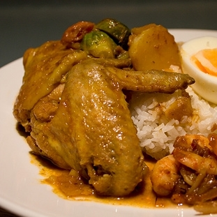 Nasi Lemak – Curry Chicken