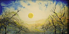 Yellow sun     (Yoel Miler) Tags: wood sun art yellow painting israel miler plastik yoel