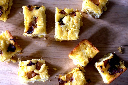 caramelized onion goat cheese cornbread