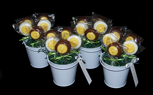 yellow white and brown oreo bouquet thank you gifts
