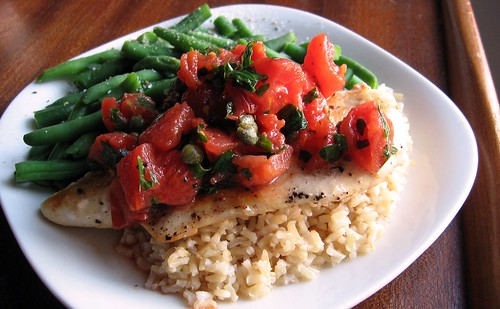 Sauteed Chicken with Tomato Relish