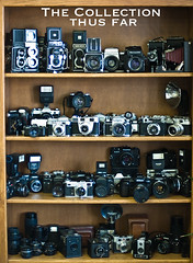 The Camera Collection Thus far (vintage cameras ) Tags: camera mamiya tlr rolleiflex zeiss canon vintage lens nikon kodak rangefinder hasselblad vintagecamera konica zenit zeissikon canonae1 yashicasamurai em ikon kiev yashica exa automat argus twinlensreflex exakta nikkormat yashicamat n90s contaflex cameracollection hasselblad500cm zeisslens vintagecameras m645j vintageslr pentaxauto110 coolcamera argusc44 n2000 kodakreflex m645 praktisix towerreflex c44 vintagecameracollection coolcameras retinaiiis minoltamarkii vintagetlr
